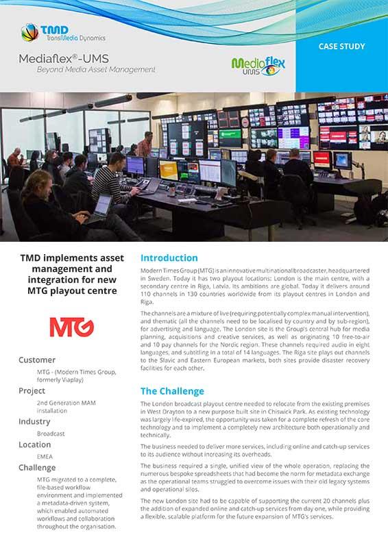TMD TransMedia Dynamics Case Study: MTG