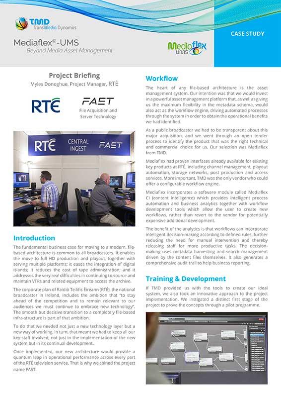 TMD TransMedia Dynamics Case Study: RTE FAST